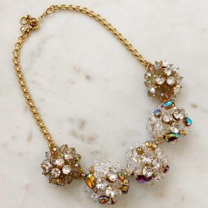J.Crew beaded crystal cluster necklace NWOT